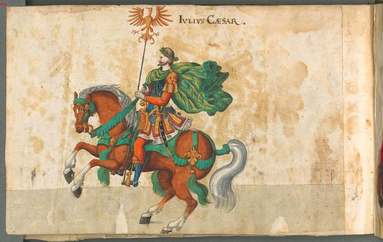 Julisz Cezar z historycznej książki średniowiecznej. Źródło: https://flic.kr/p/4xkyHa