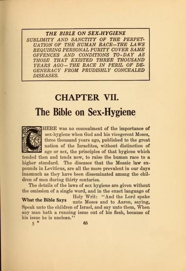 Biblia higieny seksualnej? Brzmi ciekawie:)