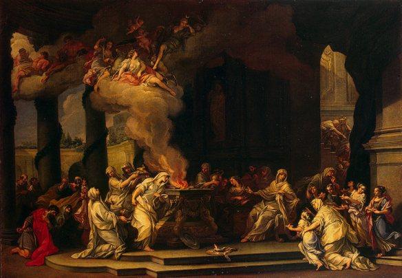 A tutaj powołanie nowej Westalki. Źródło: https://commons.wikimedia.org/wiki/File:A.Marchesini_Dedication_of_a_New_Vestal_Virgin.jpg