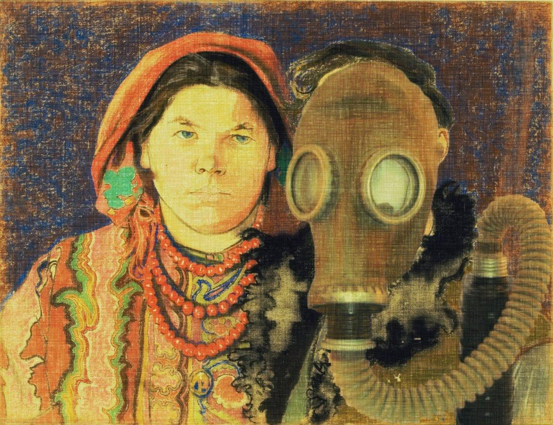 Wyspiański maskę założył, ale jego żona nie, bo to jest fest kobita i żaden smo(k)g jej nie straszny:)