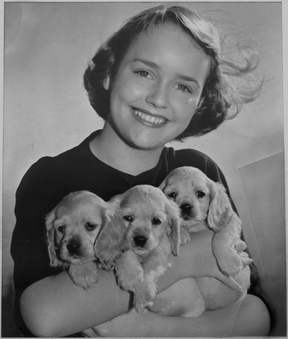 Dziewczynka ze szczeniakami. Źródło: https://flic.kr/p/pknUN8