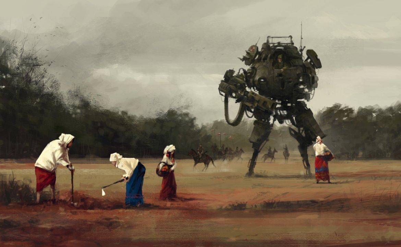 Zbiory. Źródło: https://www.artstation.com/artist/jakubrozalski