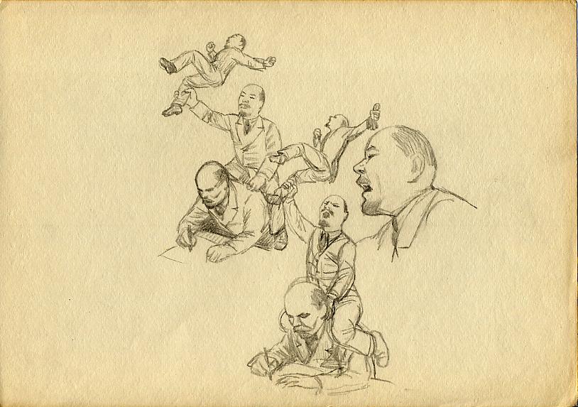 Karykatury Lenina. Źródło: https://flic.kr/p/5koKqS