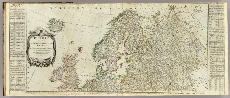 Północna Europa. Źródło: http://www.davidrumsey.com/luna/servlet/detail/RUMSEY~8~1~3629~420004:Europe-divided-into-its-empires,-ki?sort=Pub_List_No_InitialSort%2CPub_Date%2CPub_List_No%2CSeries_No?&qvq=q:norway;sort:Pub_List_No_InitialSort%2CPub_Date%2CPub_List_No%2CSeries_No;lc:RUMSEY~8~1&mi=23&trs=343#
