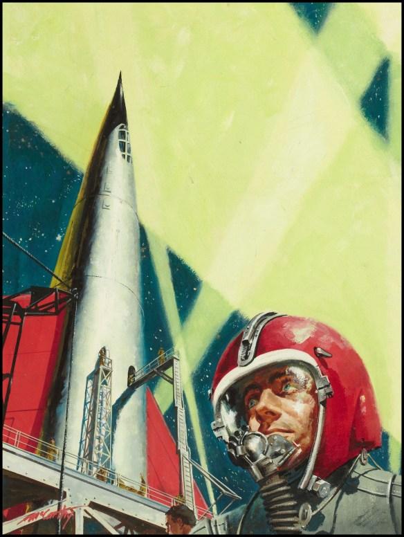 Kosmiczny statek. Wizja autorstwa Frank McCarthy. Źródło: https://flic.kr/p/7hA4ZX