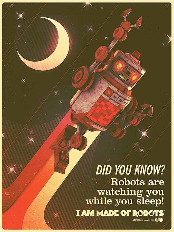 Źródło: http://www.ufunk.net/en/illustration/i-am-made-of-robots-les-robots-vintage-dalex-varanese/