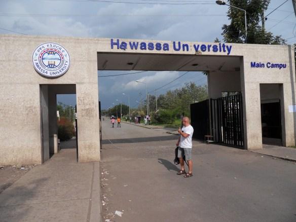 Brama do kampusu uniwersytetu w Hawassie :)