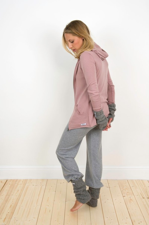 Charl Knitwear Cashmere hooded jacket