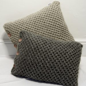 Charl Knitwear Hand knitted cushions two sizes