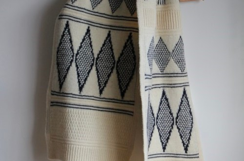 Charl Knitwear Hardingham Gansey pattern knitted scarf
