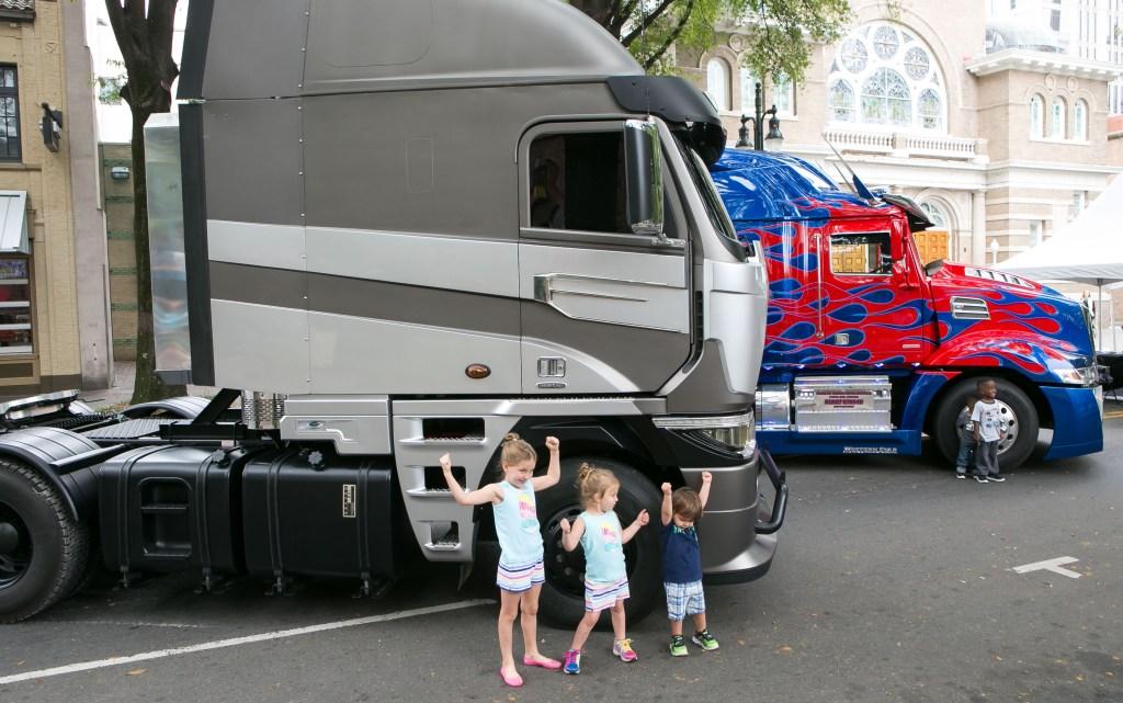 Transformer trucks at Charlotte Mini Maker Faire