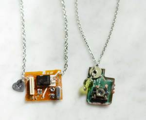 upcycled jewelry from Charlotte Mobile Makery