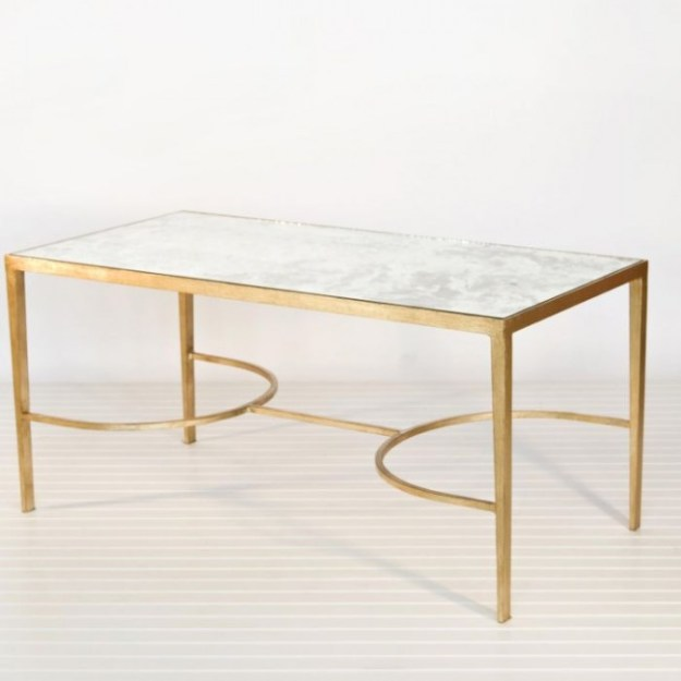 chase gold leaf mirrored coffee table