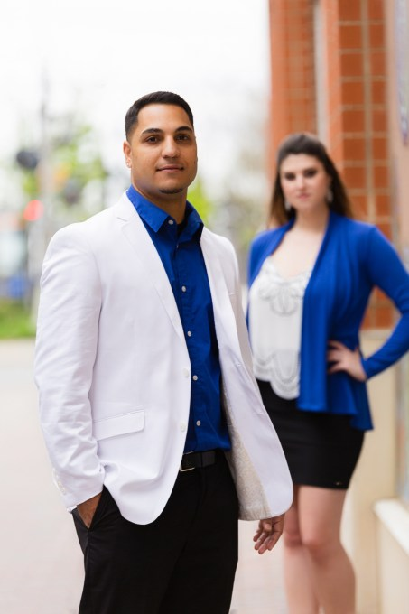 Angela and Jason: The Ultimate Uptown Charlotte Engagement Shoot