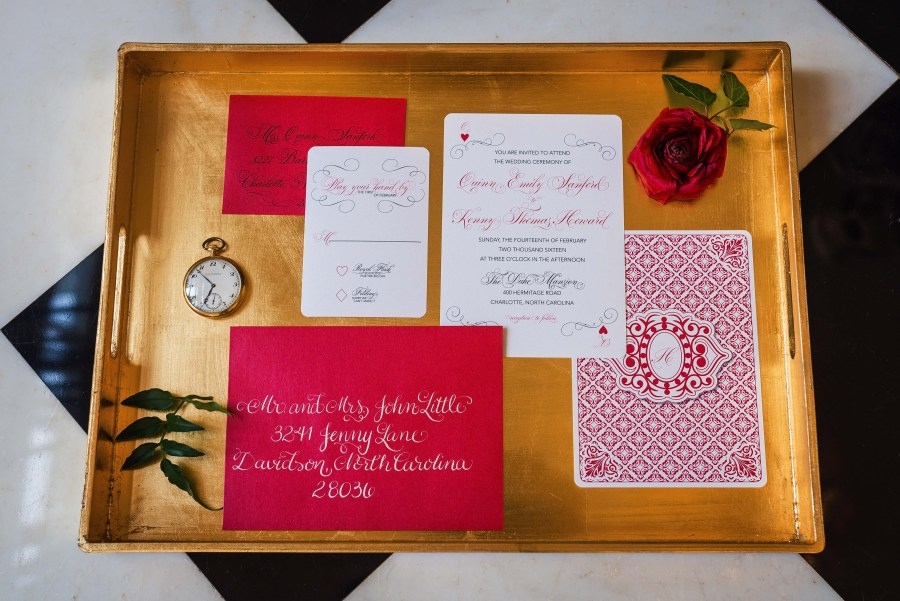 Whimsical Charlotte Wedding Styled Shoot at The Duke Mansion Featuring Inspiration from Alice in Wonderland