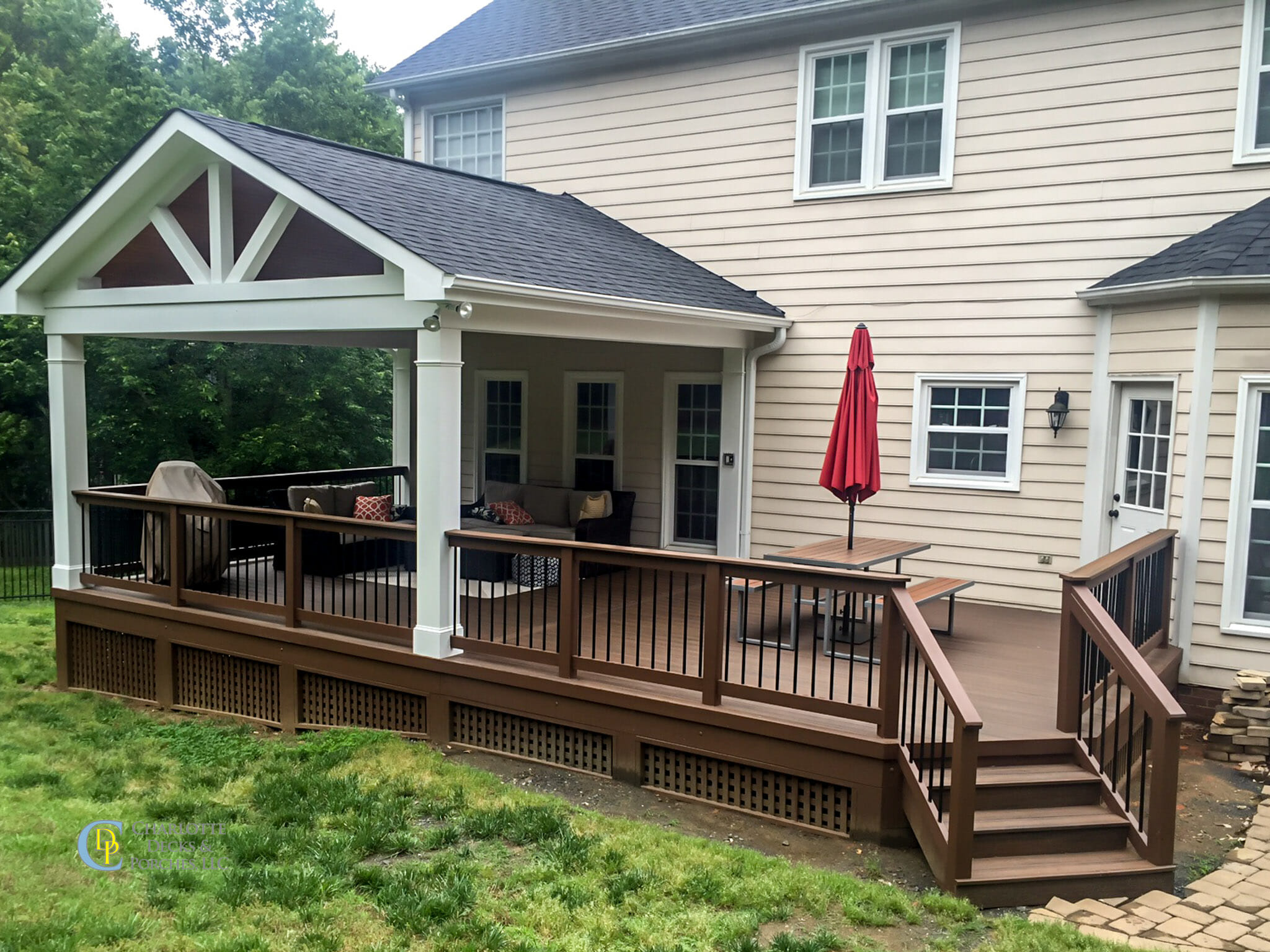 Covered Porch Photos - Charlotte Decks and Porches, LLC on Enclosed Back Deck Ideas id=38656