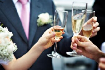 A toast to newlyweds at the wedding