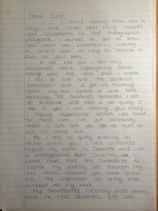 Letter page one