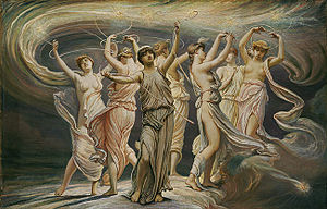 The seven dancing sisters of the Pleiades.