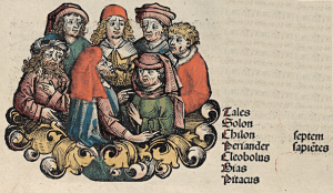 Seven Sages of Greece from the Nuremberg chronicles