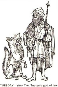 Tyr or Tiu was the Norse god of Law
