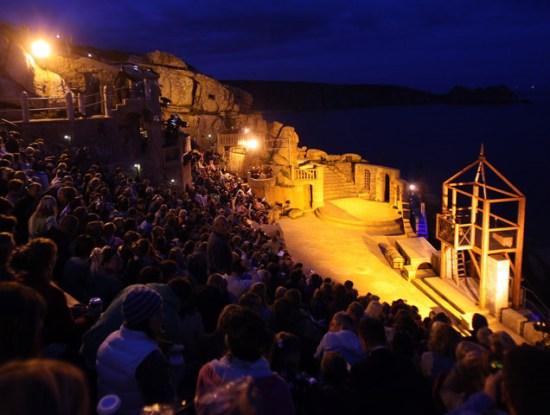 Minack Theatre At Night