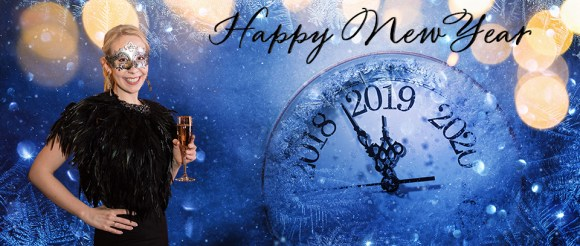 Happy New Year 2019. Winter Celebration