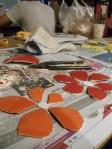 Dab hand at ceramic flowers