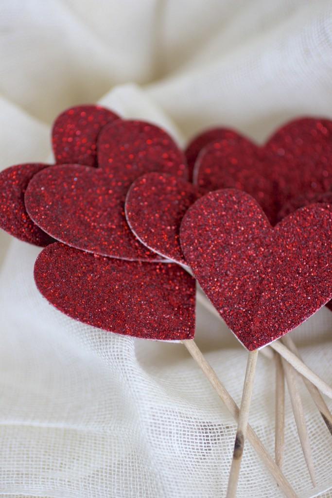 valentine heart cupcake tops