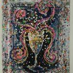 Charlotte_Olsson_Art_champagne_bubbles_glas_colors_konst