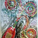 Charlotte_Olsson_Art_champagne_fun_artlover_colors_bottle