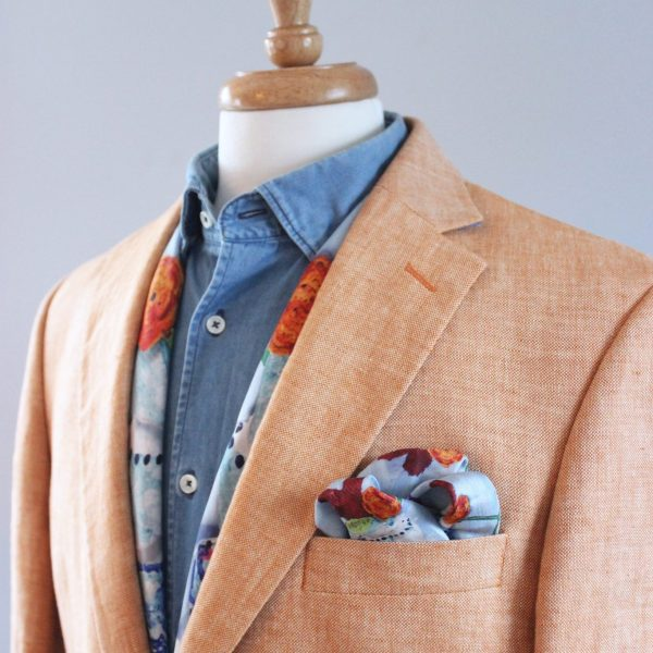 charlotte_olsson_art_design_pattern_swedishart_champagne_recyclingart_silk_exclusive_original_pocketsquare_näsduk_classic_gentlemtn_style_cake