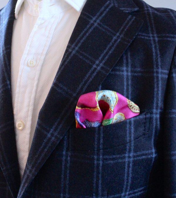 charlotte_olsson_art_design_pattern_swedishart_champagne_recyclingart_silk_exclusive_original_pocketsquare_näsduk_colorful_style_gentlemen_inspiration