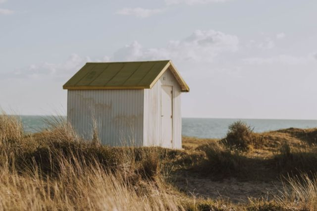Where do writers write, image of hut on beach