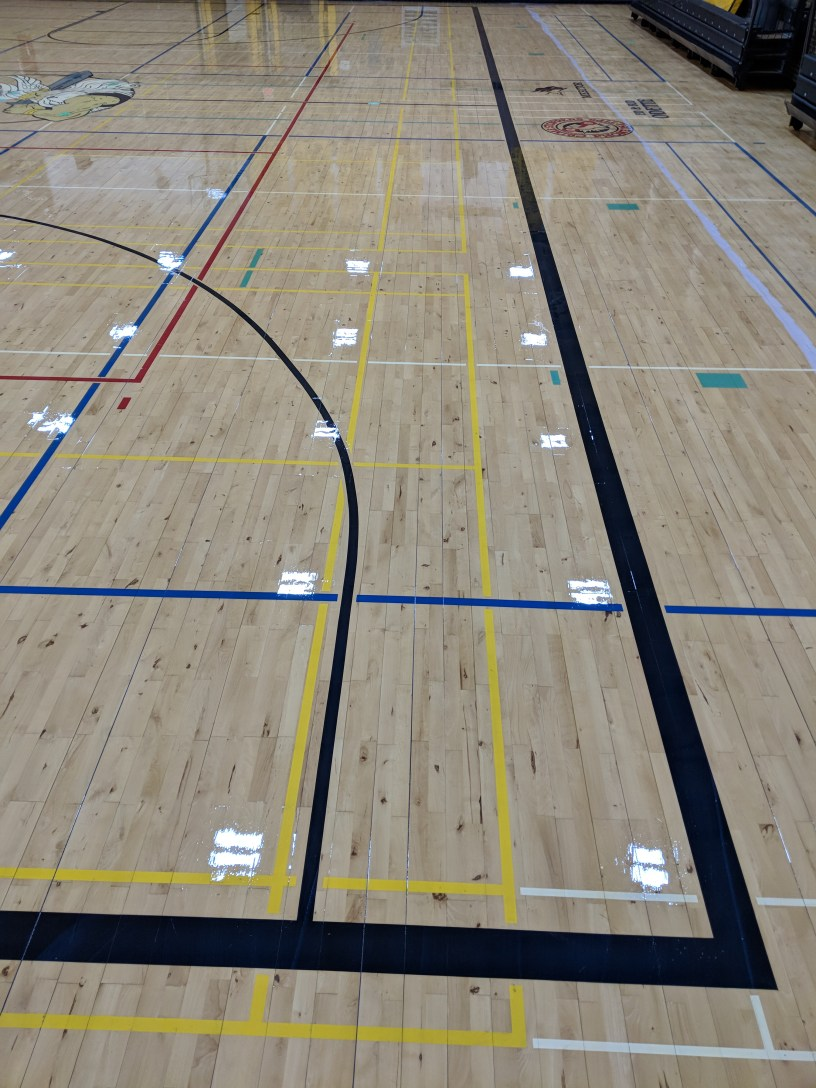 Wooden gym floors go though a lot. It's important to properly maintain them.