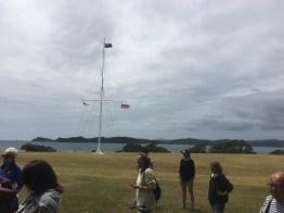 Flagpole marking the treaty sight