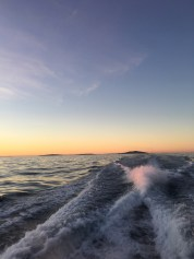 Sunset on the way to Stewart Island
