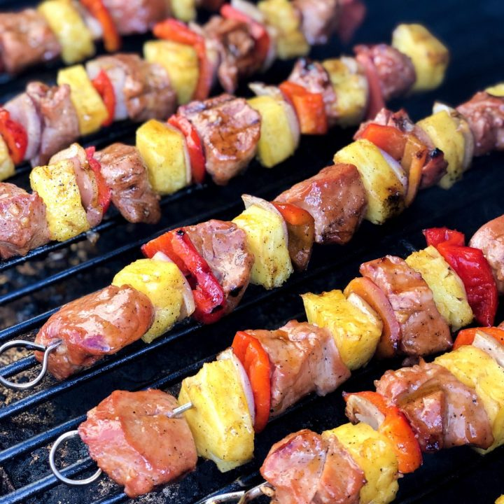 Pineapple Pork Kebabs