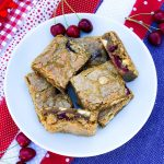 White Chocolate Cherry Blondies