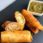 Green Chile Chicken Chimichangas