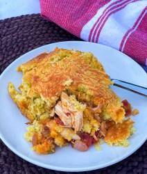 Skillet Chicken Tamale Pie