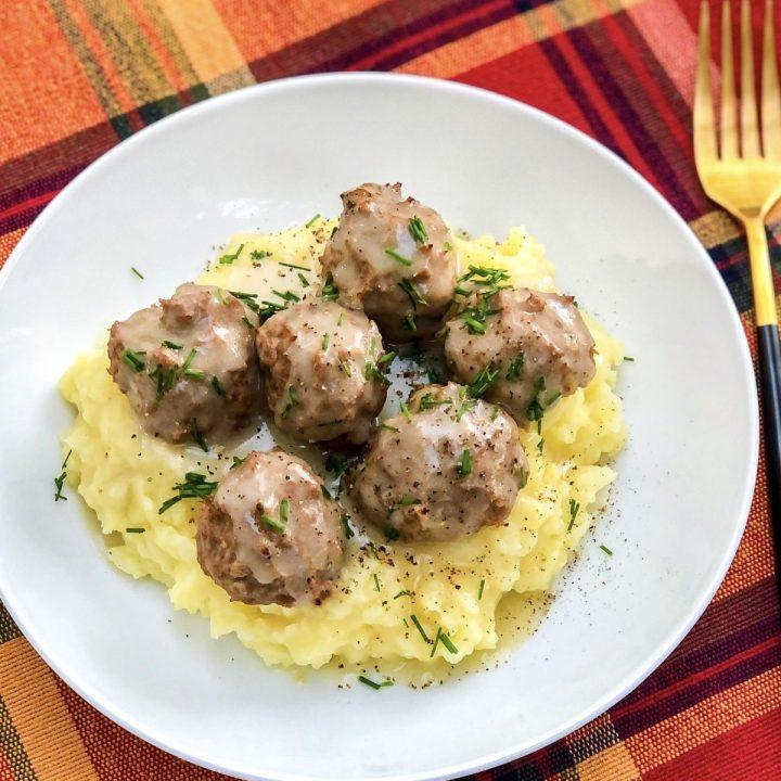 Turkey Apple Swedish Meatballs