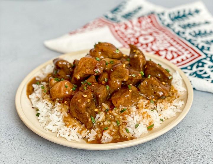 Slow Cooker Sweet & Spicy Pork