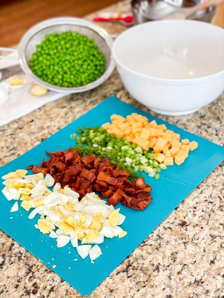 Southern Pea Salad ingredients