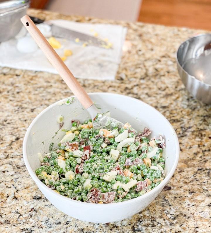 Southern Pea Salad prep