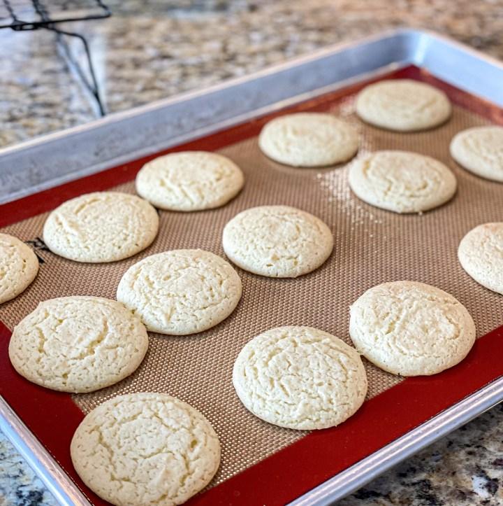 Pina Colada Sandwich Cookies process