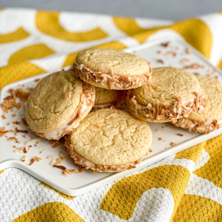 Pina Colada Sandwich Cookies