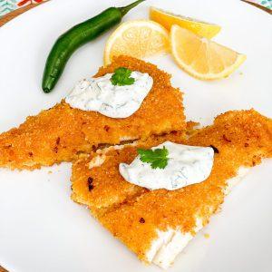 Cornflake Crusted Cod with Cilantro Aioli