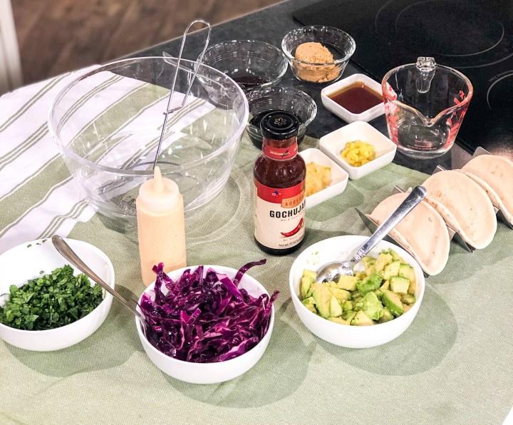 Korean Bulgogi Tacos ingredients