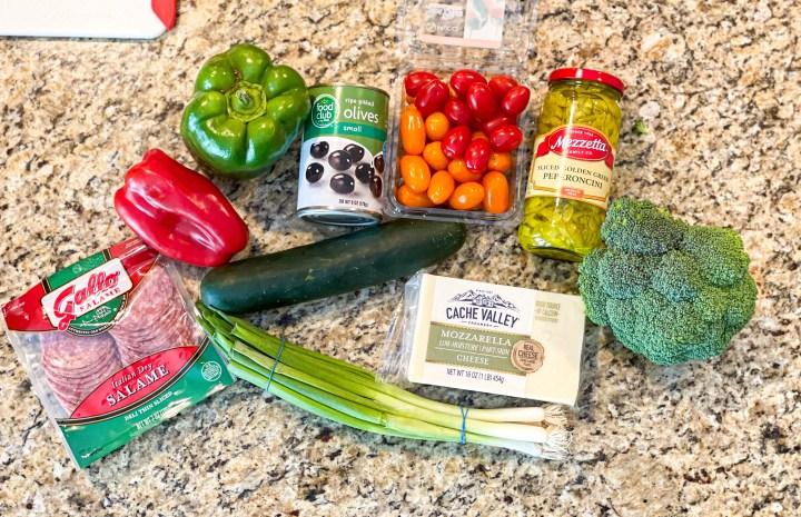Supreme Italian Pasta Salad ingredients